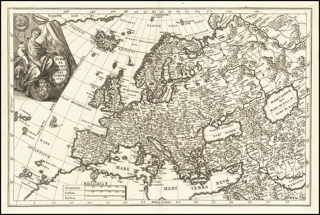 Europae Orbis Christiani Domina 1699 By Heinrich Scherer