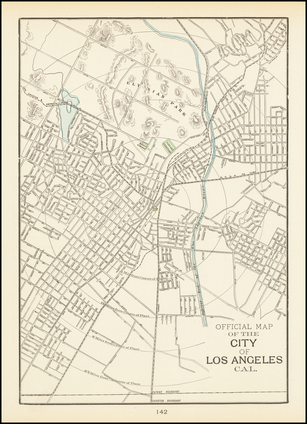 Official Map of the City of Los Angeles Cal. By George F. Cram