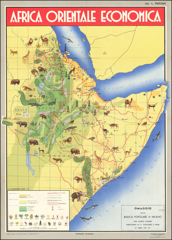(Italian East Africa) Africa Orientale Economica By E. Kalchschmidt