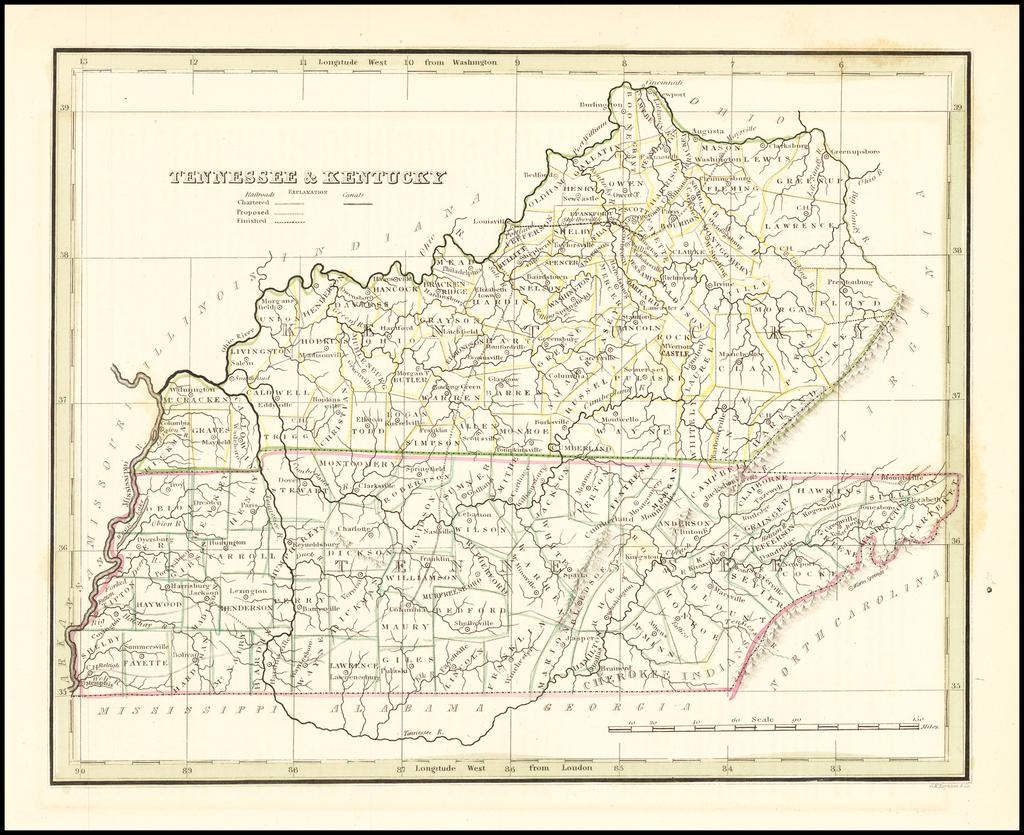Tennessee & Kentucky  By Thomas Gamaliel Bradford
