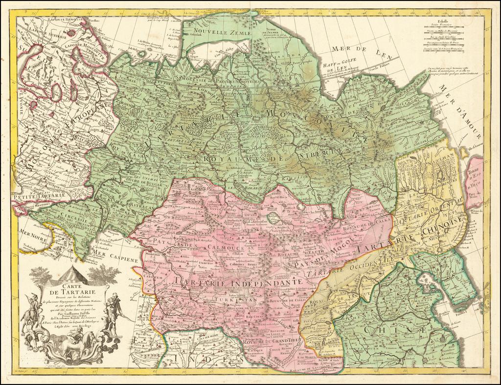 Carte De Tartarie dressee sur les Relations . . . 1706 By Guillaume De L'Isle