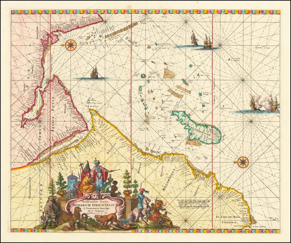 Occidentalior Tractus Indiarum Orientalium a Promontorio Bonae Spei ad C. Comorin . . . By Frederick De Wit
