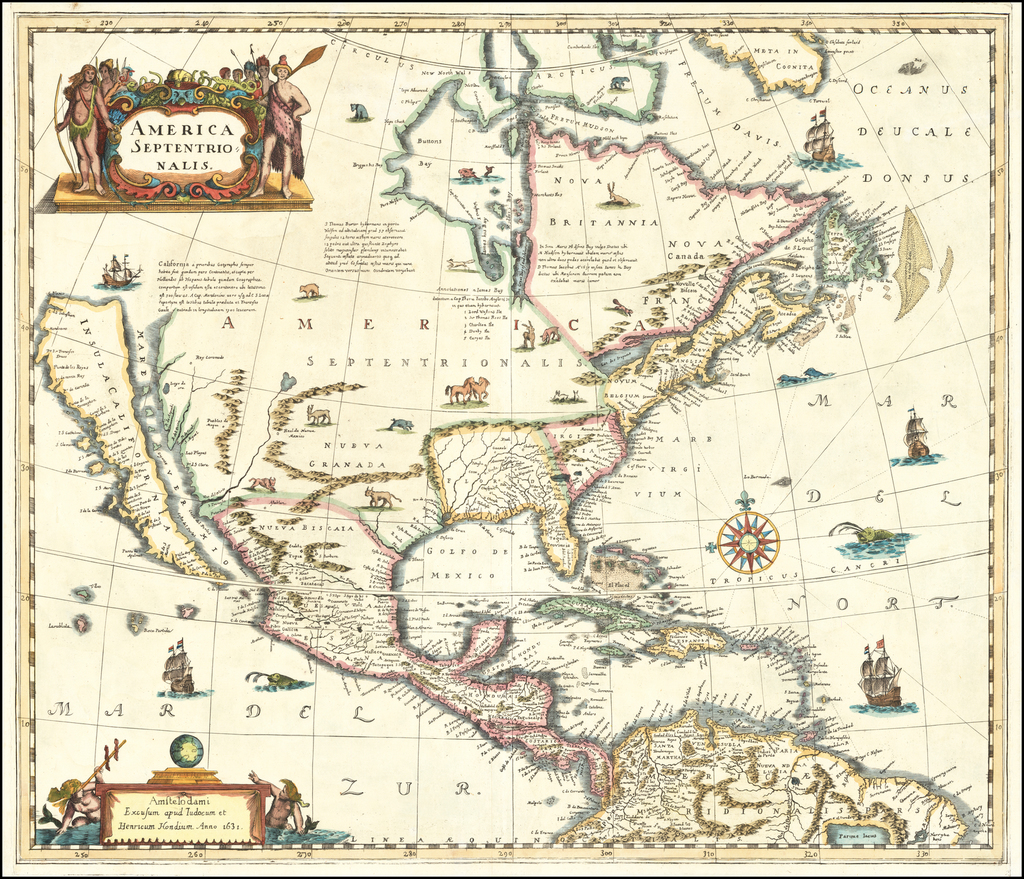(Map Forgery) America Septentrionalis. By Anonymous