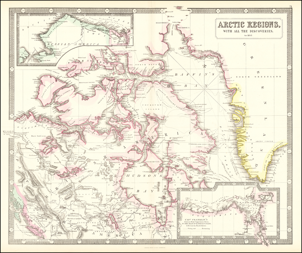 Arctic Regions, With All The Discoveries. By George Philip & Son