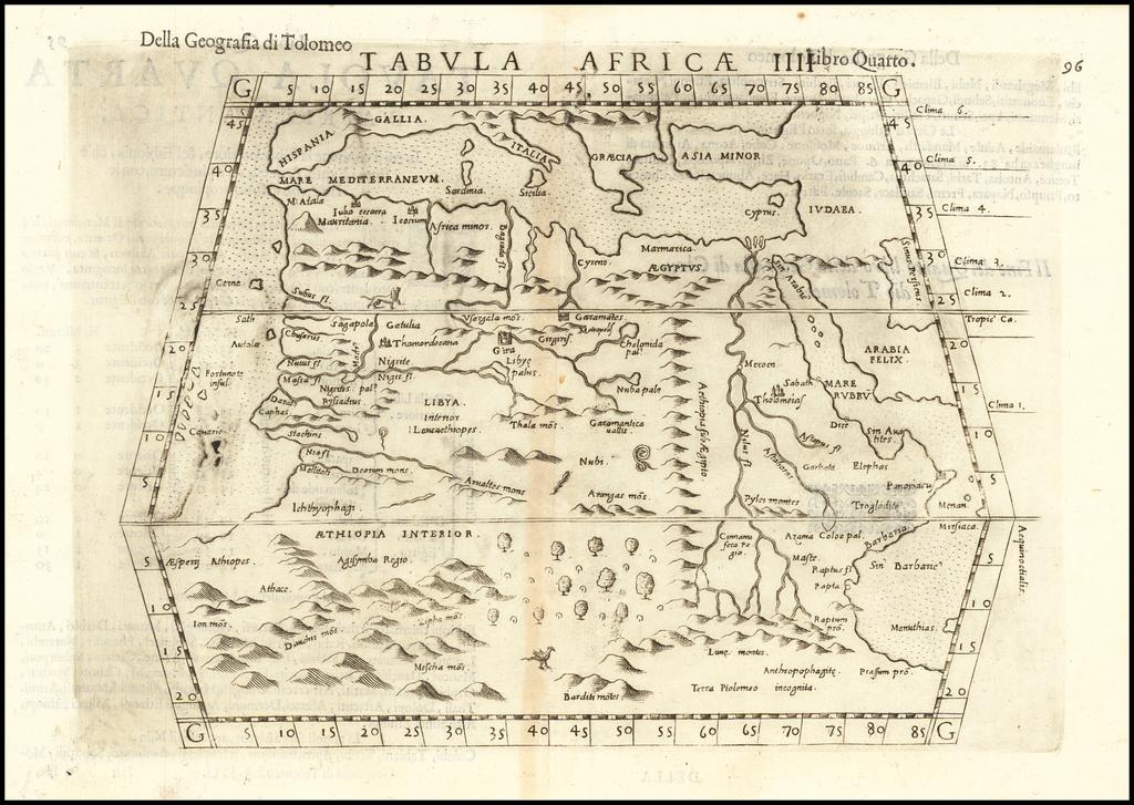 Tabula Africae IIII By Girolamo Ruscelli