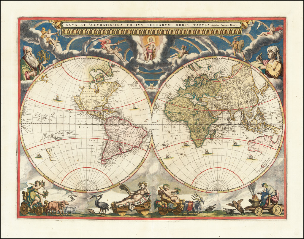 World Map By Johannes Blaeu