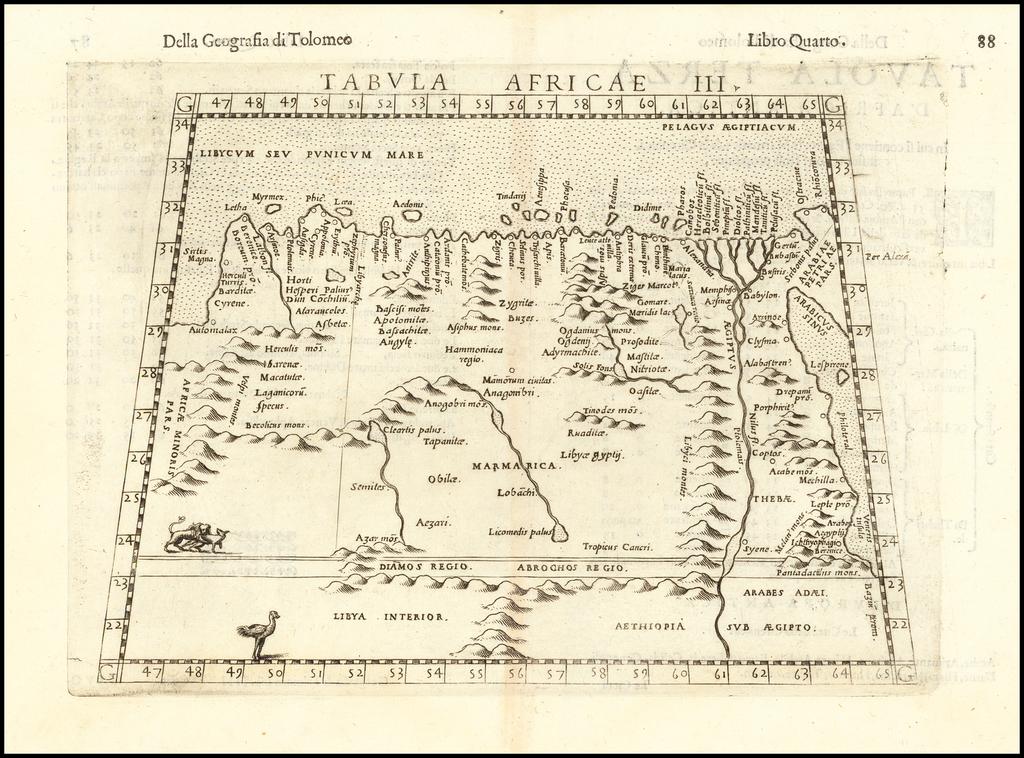 Tabula Africae III By Girolamo Ruscelli