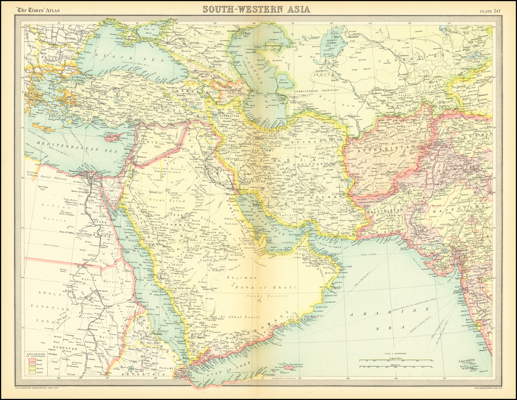 South-Western Asia By Times Atlas