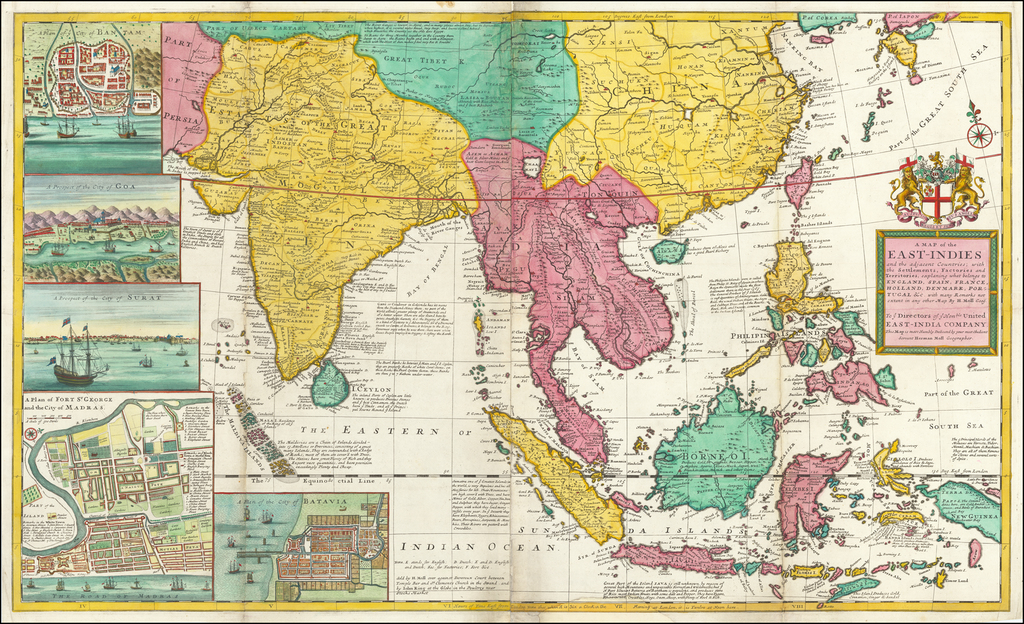 A Map of the East-Indies and the Adjacent Countries; with ...