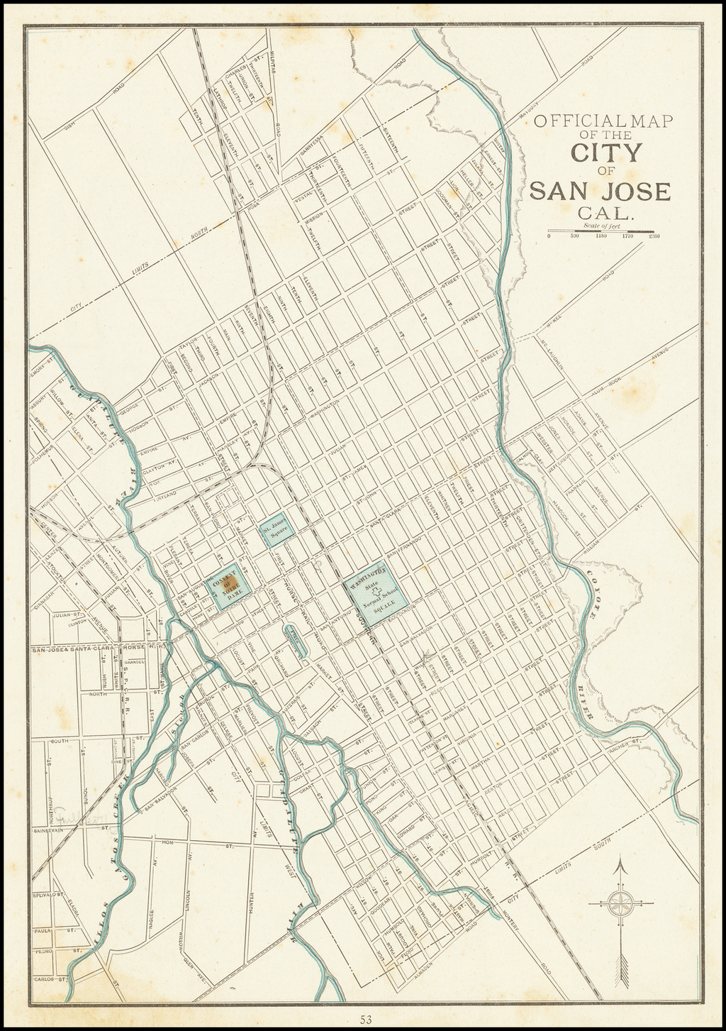Official Map of The City of San Jose Cal. By George F. Cram