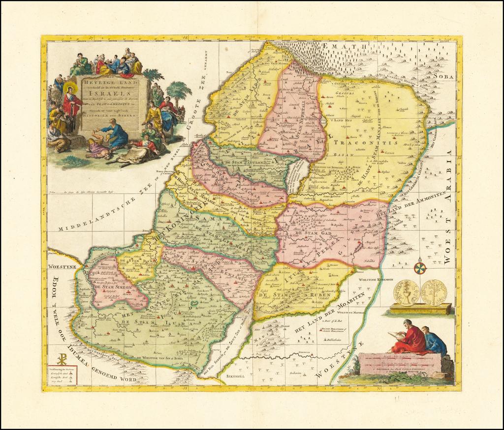 Het Heylige Land verdeeld in de Twaalf Stammen Israels . . . By Covens & Mortier