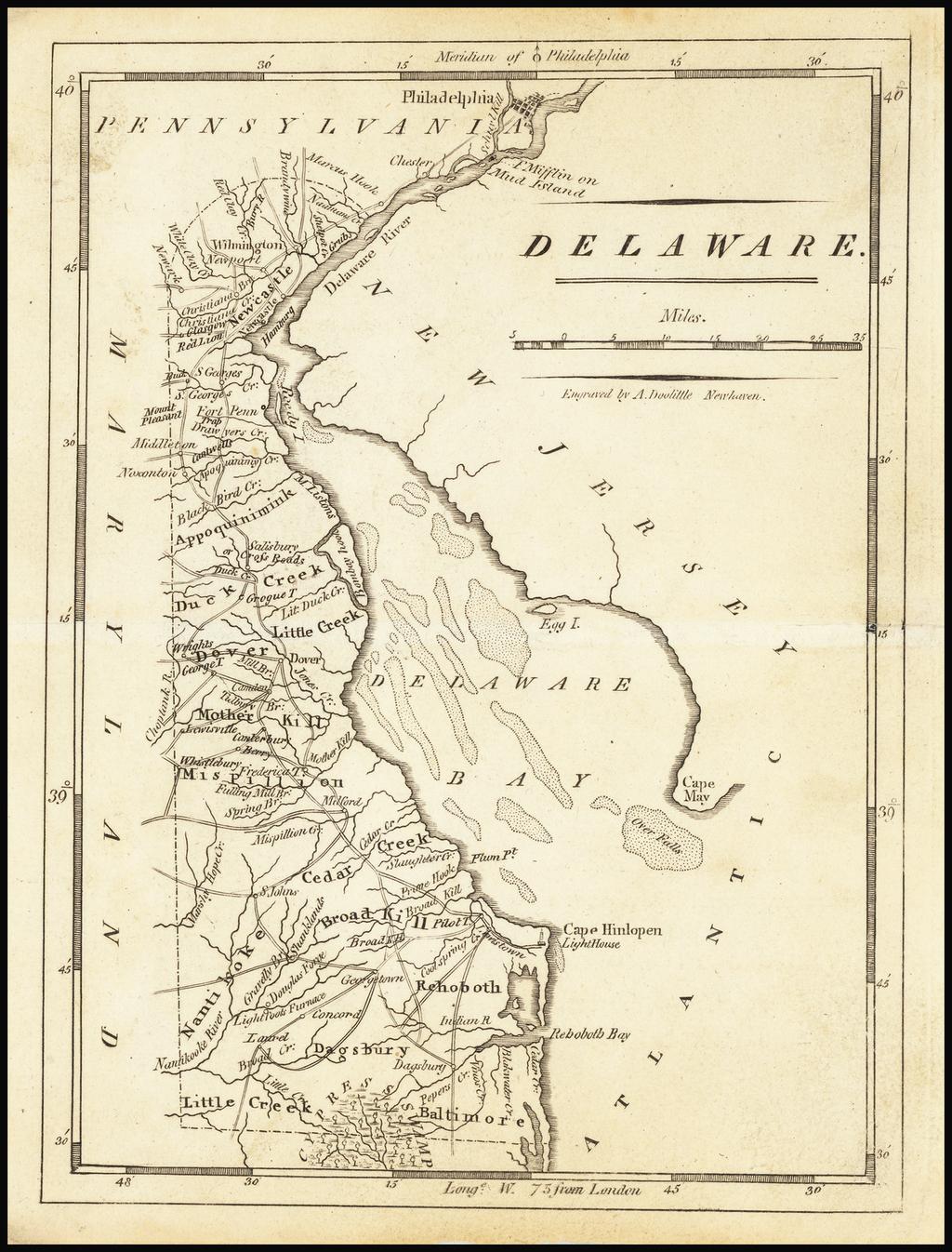 Delaware By Mathew Carey