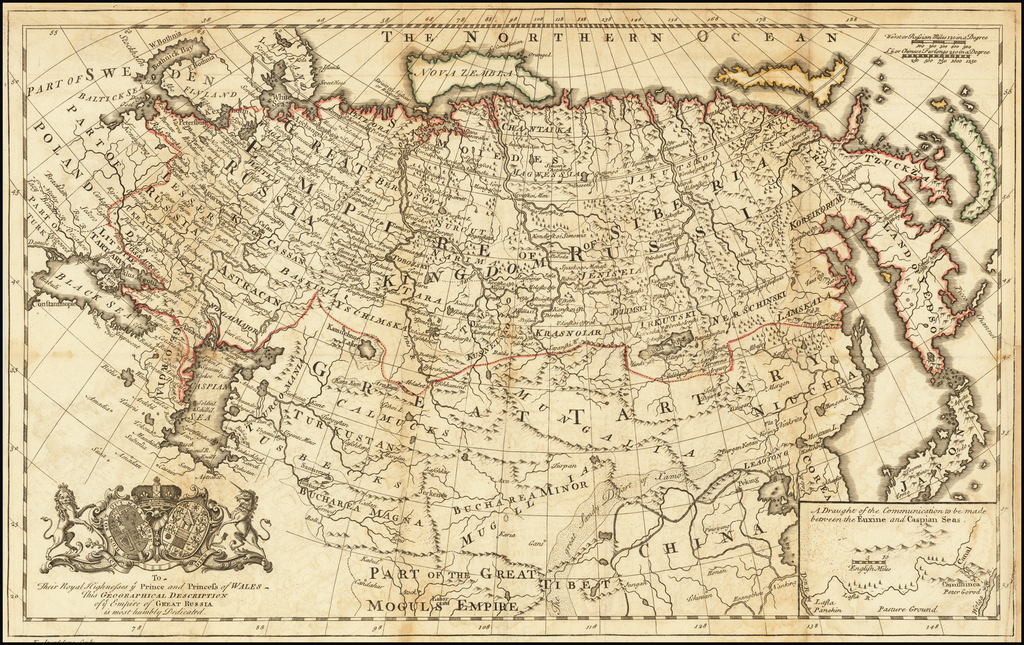 [Imperial Russia]  To Their Royal Highnesses ye Prince and Princess of Wales This Geographical Description of ye Empire of Great Russia is Most Humbly Dedicated By Philipp Johann Strahlenberg