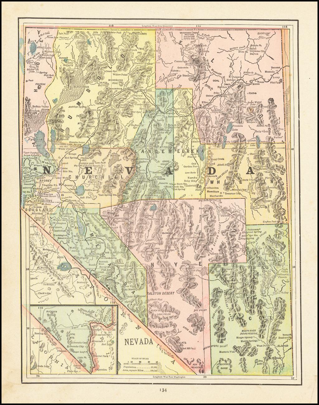 Nevada By George F. Cram