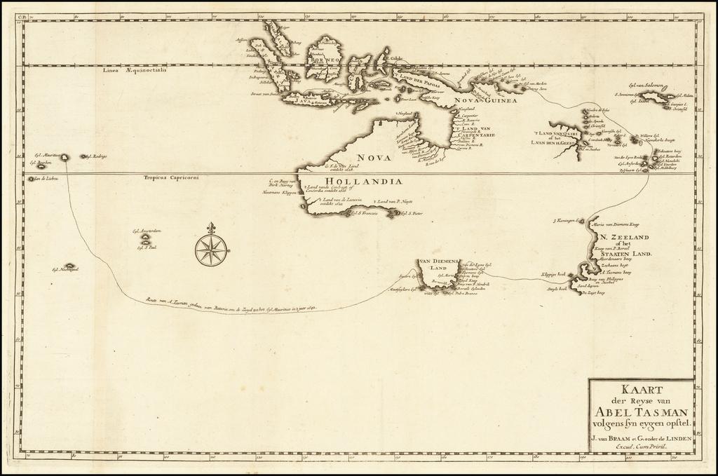 Australia Map By Francois Valentijn