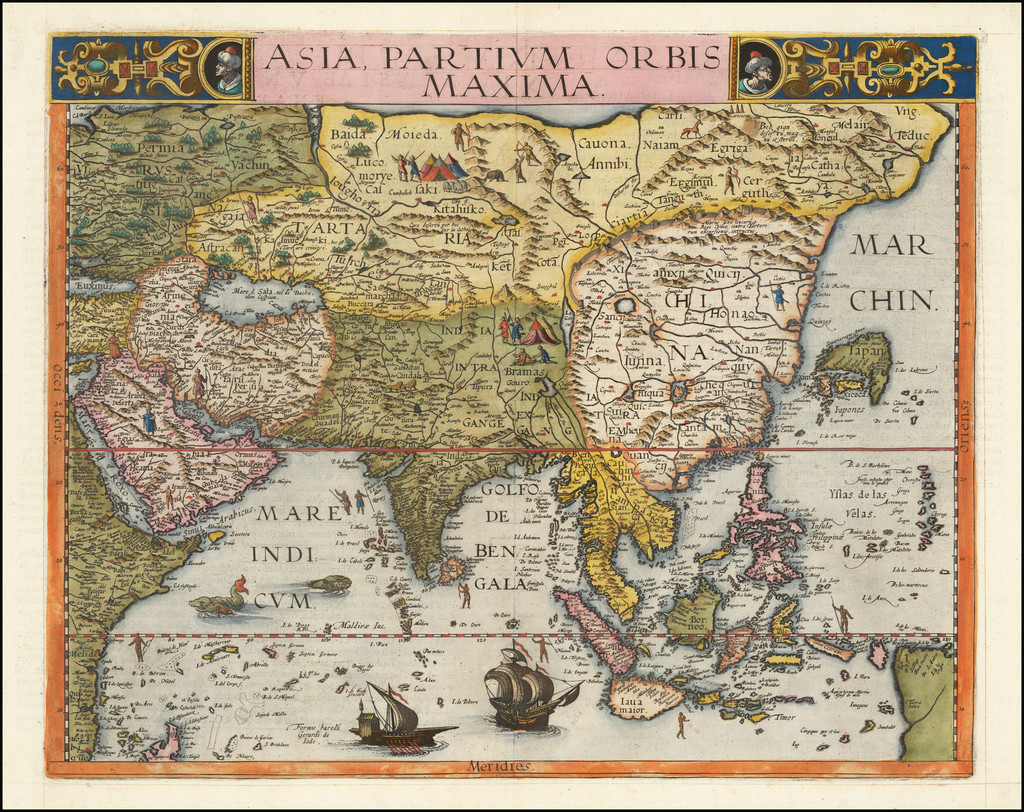Indian Ocean, Asia and Southeast Asia Map By Gerard de Jode
