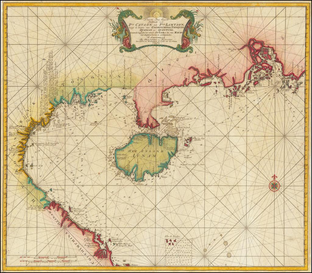 China and Hong Kong Map By Johannes II Van Keulen