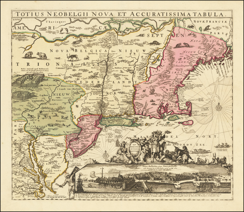 New England and Mid-Atlantic Map By Reiner & Joshua Ottens