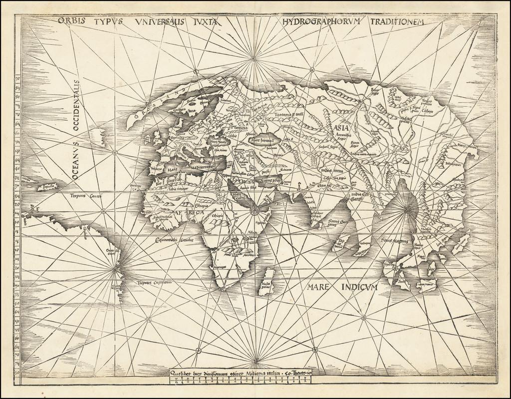World Map By Martin Waldseemüller
