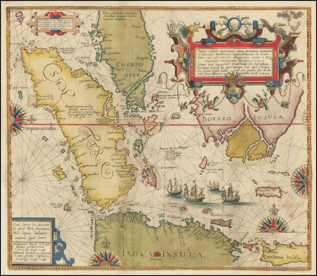 Southeast Asia, Singapore, Indonesia and Other Islands Map By Theodor De Bry