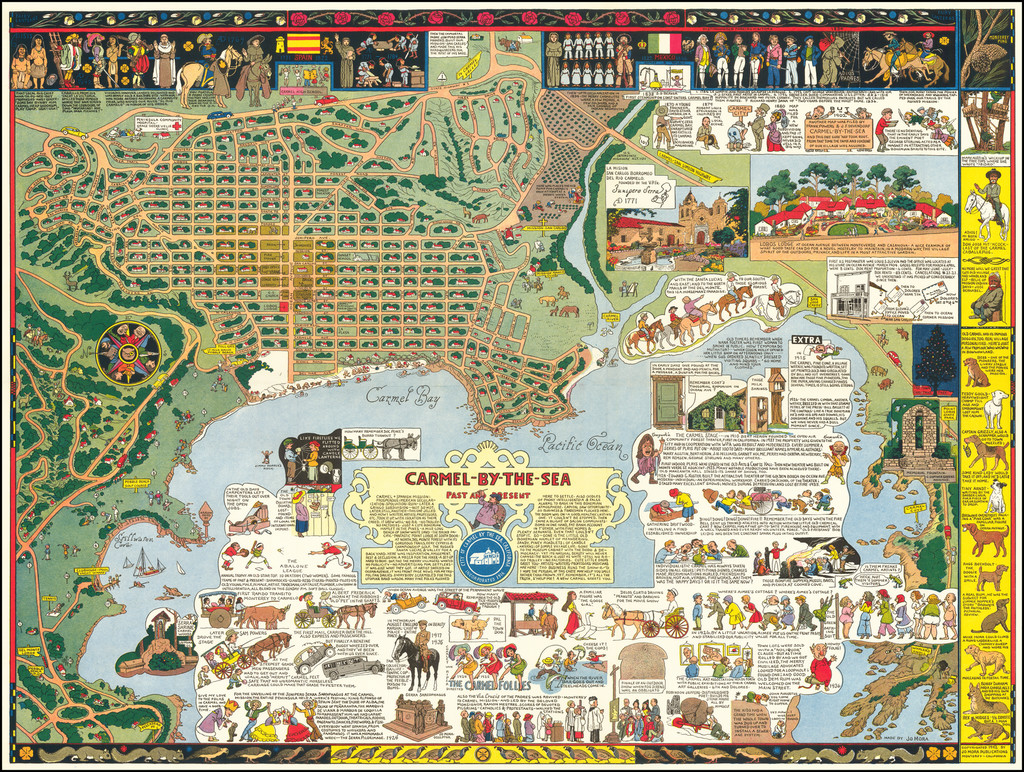 Pictorial Maps, California and Other California Cities Map By Jo Mora