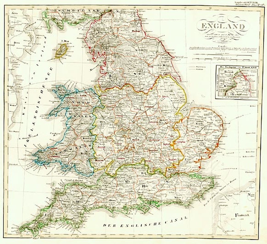 Map Of England Counties And Towns.England 1848 Barry Lawrence Ruderman Antique Maps Inc