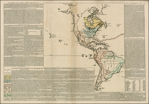 12-South America and America Map By Anonymous