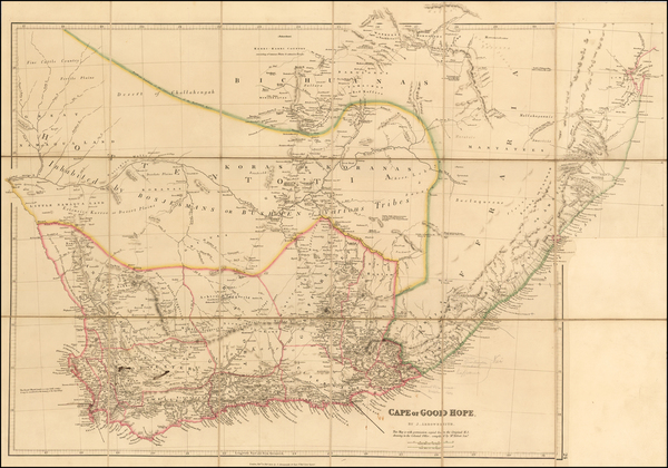 28-South Africa Map By John Arrowsmith