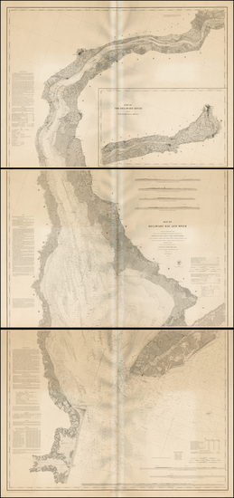 36-Mid-Atlantic and Delaware Map By U.S. Coast Survey