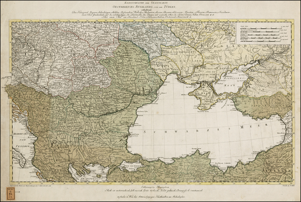 23-Ukraine, Hungary, Romania, Balkans and Turkey & Asia Minor Map By Johann Ulrich Muller
