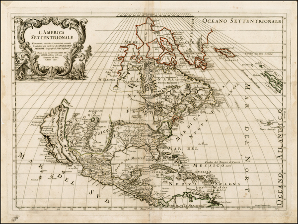 71-North America and California Map By Giacomo Giovanni Rossi