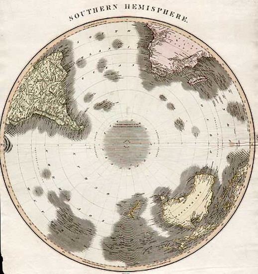 31-World, Southern Hemisphere, Polar Maps, Australia & Oceania, Australia and Oceania Map By J