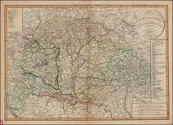 15-Austria, Hungary, Czech Republic & Slovakia and Balkans Map By Weimar Geographische Institu