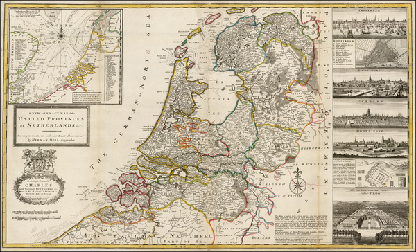 58-Netherlands and Luxembourg Map By Herman Moll