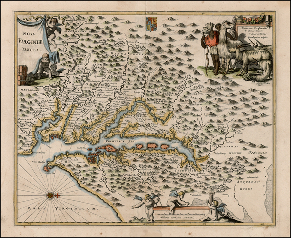 63-Mid-Atlantic and Southeast Map By John Ogilby