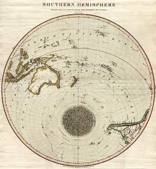 72-World, Southern Hemisphere, Polar Maps, Australia & Oceania, Oceania and Hawaii Map By John