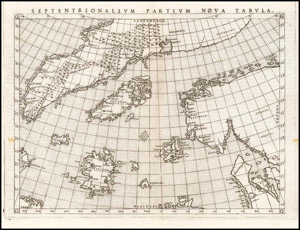 73-Polar Maps, Atlantic Ocean, Scandinavia and Balearic Islands Map By Girolamo Ruscelli
