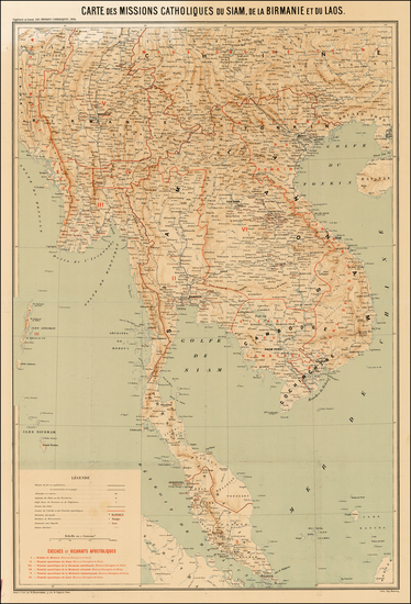 10-Southeast Asia, Singapore and Malaysia Map By