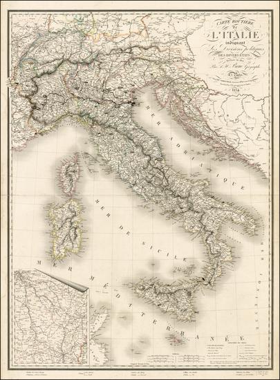 6-Italy Map By Adrien-Hubert Brué