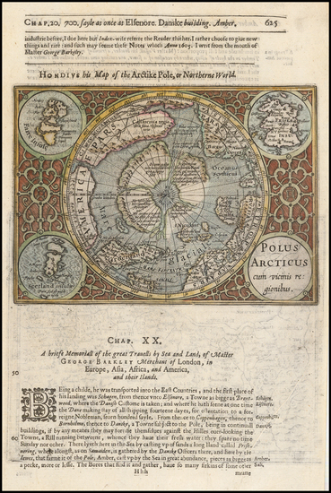 12-Polar Maps Map By Henricus Hondius / Samuel Purchas