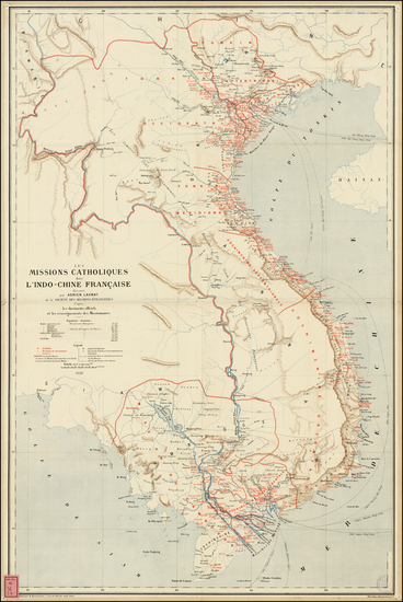 China and Southeast Asia Map By Adrien Launay