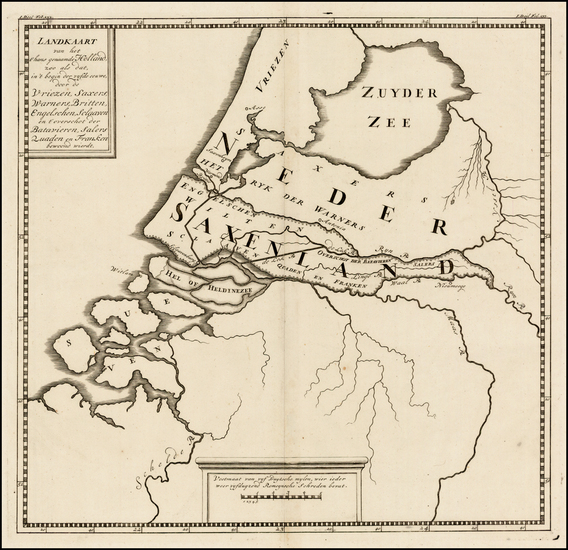30-Netherlands Map By Pieter de Hondt