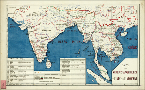 68-India, Southeast Asia and Other Islands Map By Anonymous
