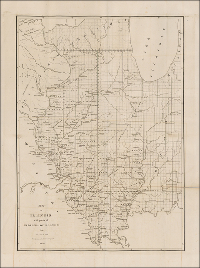 24-Midwest, Illinois and Plains Map By David Hugh Burr