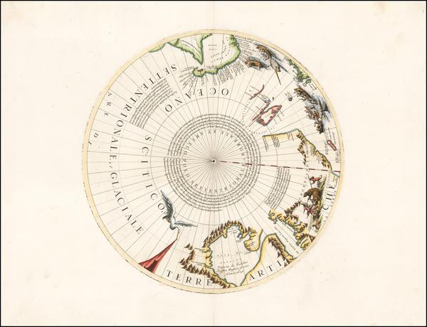 28-Polar Maps, Canada, Russia and Scandinavia Map By Vincenzo Maria Coronelli
