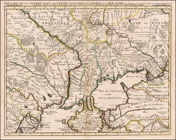 39-Ukraine Map By Johannes Covens  &  Cornelis Mortier