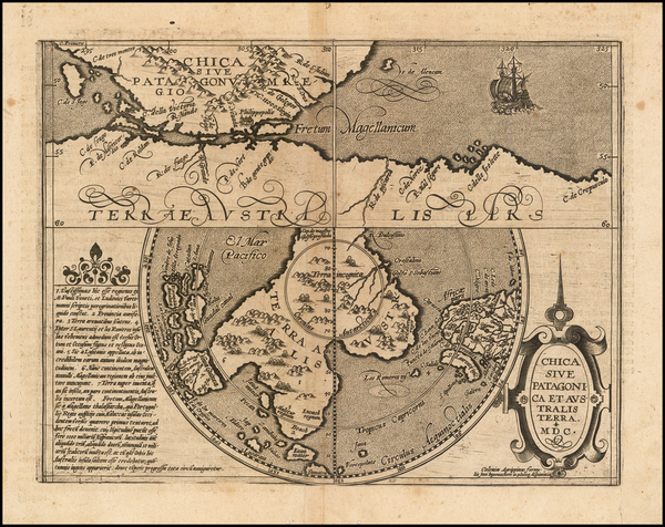 17-Southern Hemisphere, Polar Maps and South America Map By Matthias Quad / Johann Bussemachaer