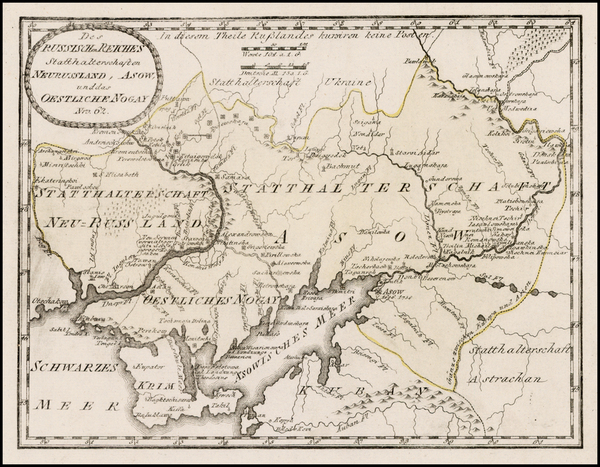 97-Russia and Ukraine Map By Franz Johann Joseph von Reilly
