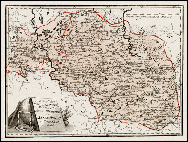 27-Poland, Ukraine and Baltic Countries Map By Franz Johann Joseph von Reilly
