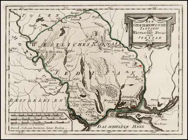 30-Ukraine Map By Franz Johann Joseph von Reilly